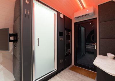 luxury holiday pod interior